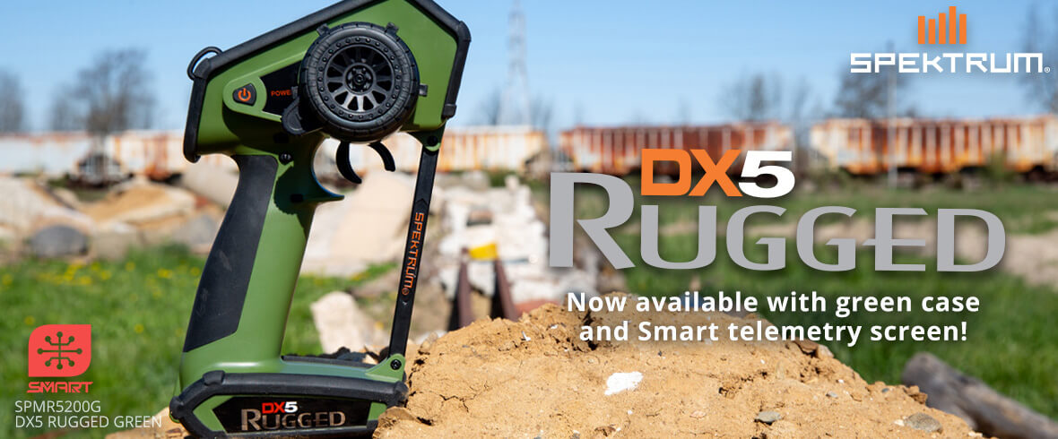 Spektrum DX5 Rugged DSMR Green