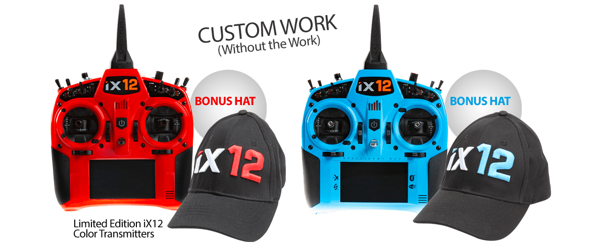 iX12 Transmitters, Light Blue/Red