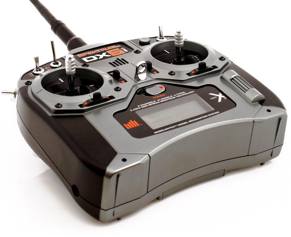 DX6i DSMX 6-Channel Transmitter Only Mode 2 (SPMR6610): Spektrum