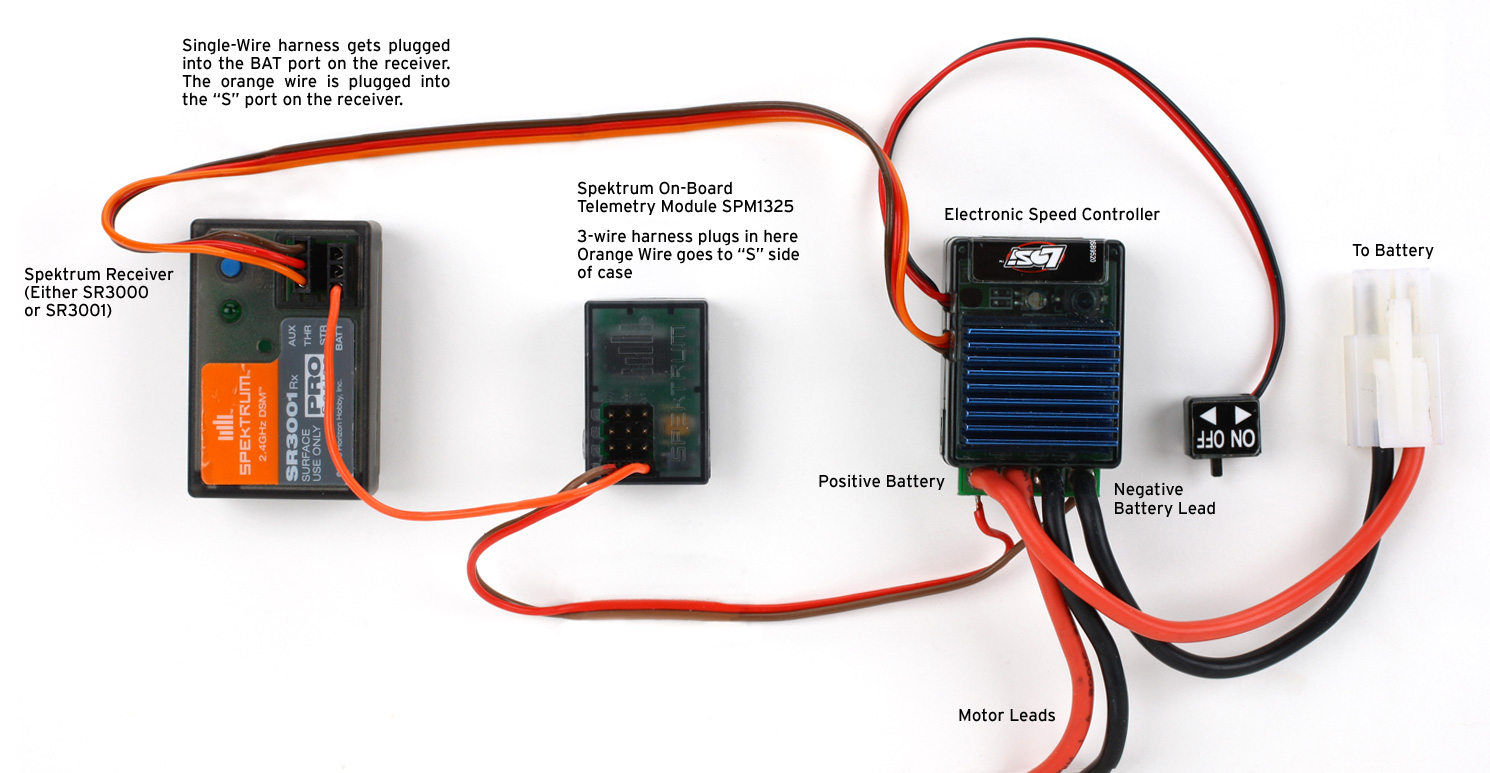 How To Monitor Your Main Battery Pack Voltage With Spektrum Wiring Harness For Combines Telemetry